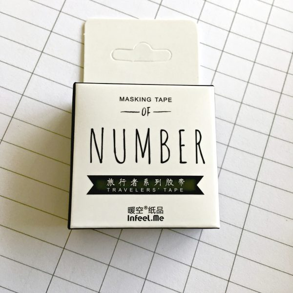 Numbers Washi Tape