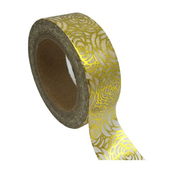 Gold Rose Washi Tape