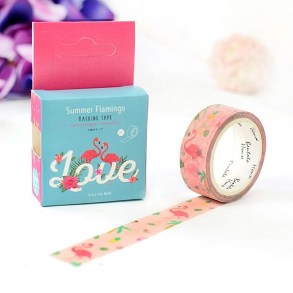 Flamingo Love Washi Tape