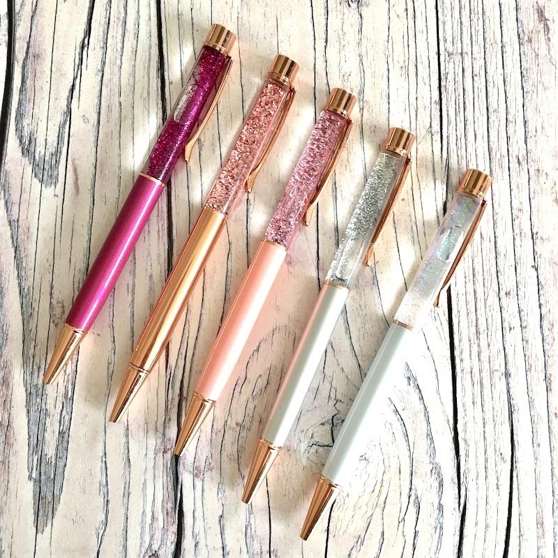 Rose Gold Glitter Pen