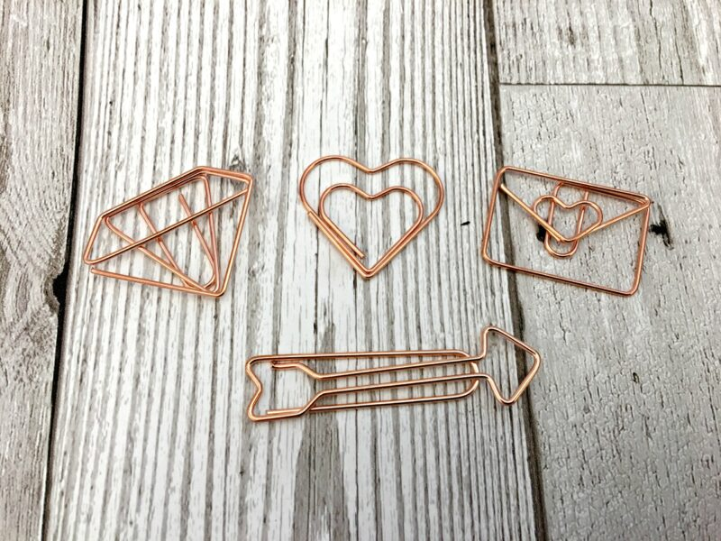 Rose Gold Paper Clips