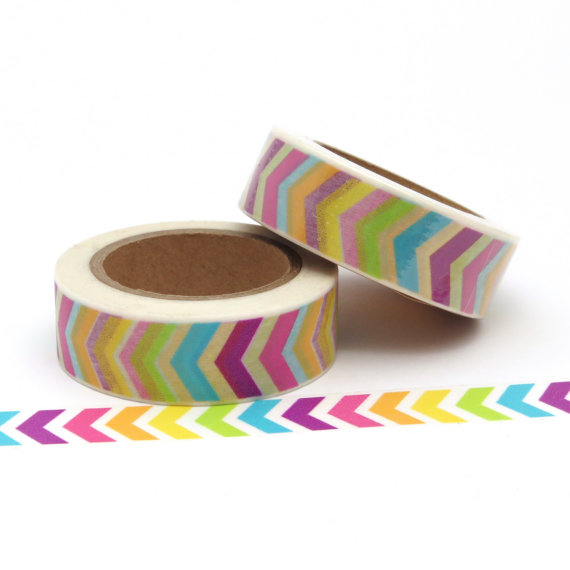 Bright Chevron Washi Tape