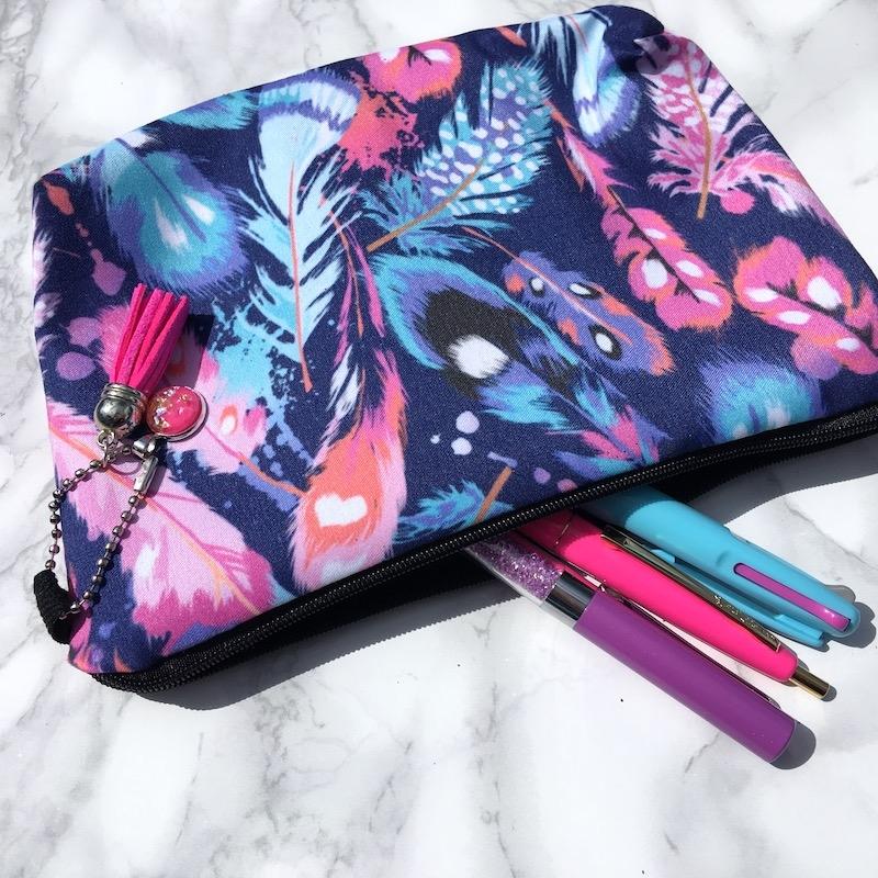 Feather Pencil Case