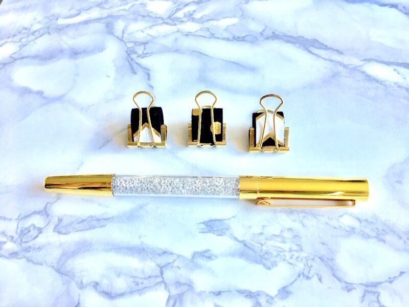 Gold Chevron Pen Loop