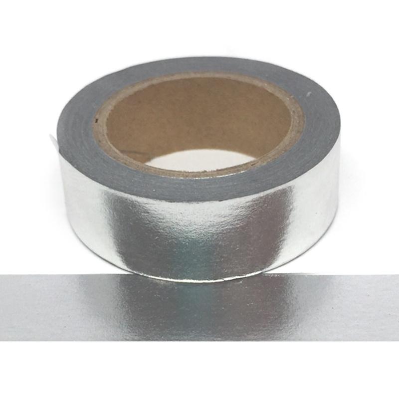 Metallic Silver Washi Tape