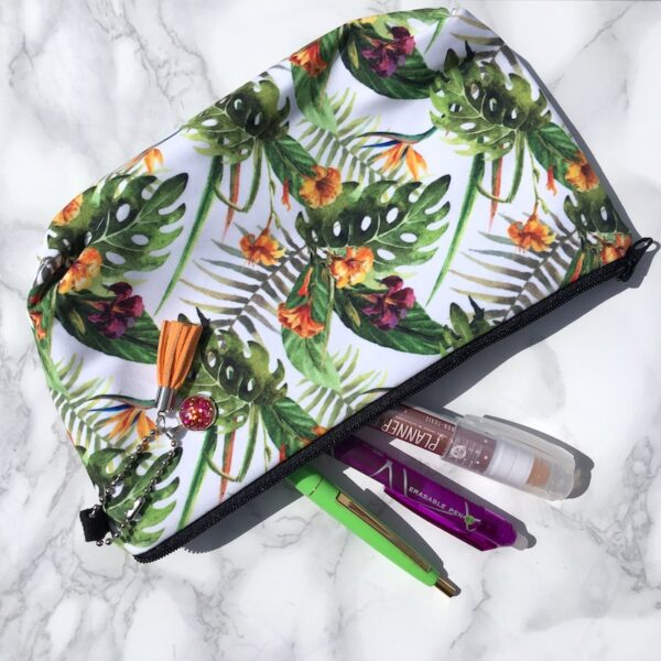Tropical Flower Pencil Case
