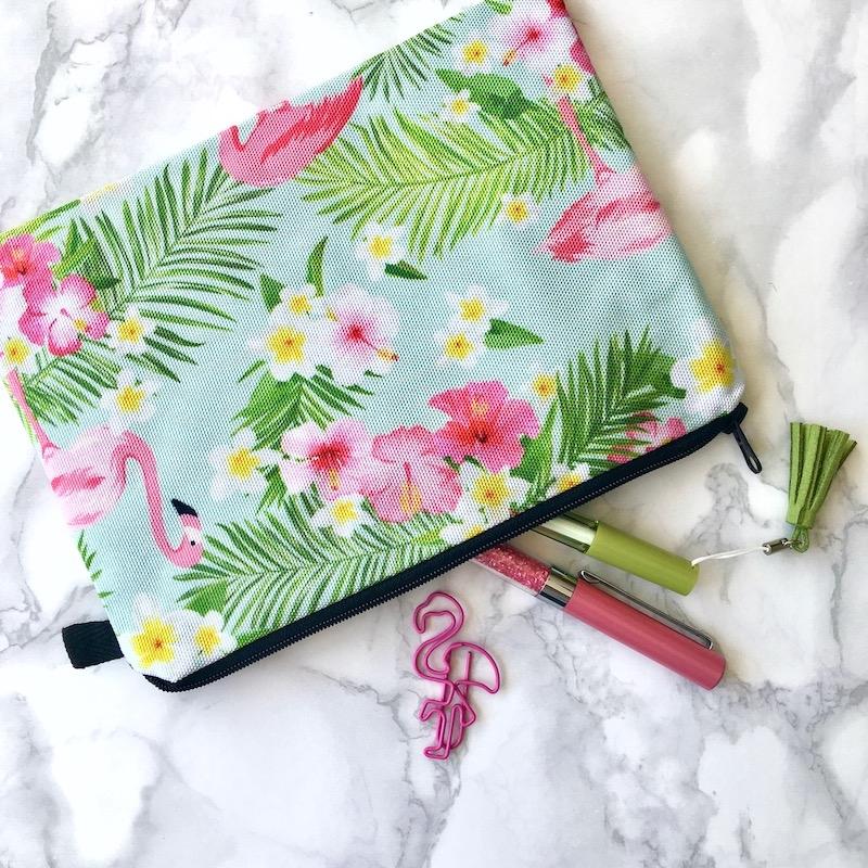Flamingo Large Pencil Case