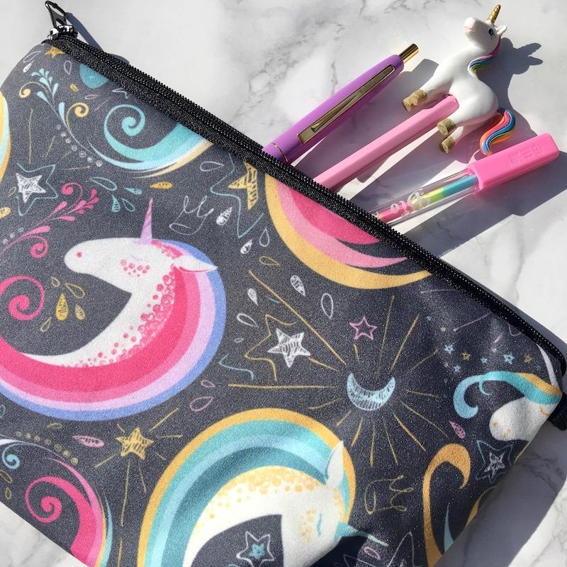 Bold Unicorn Pencil Case