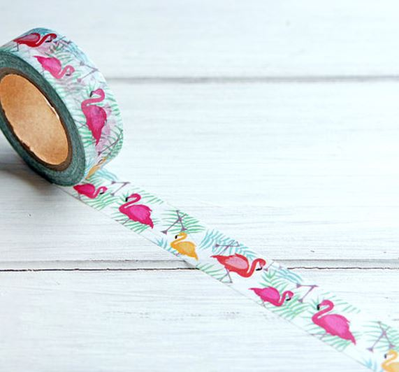 Tropical Flamingo Washi Tape