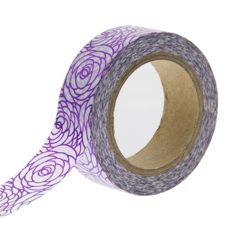 Metallic Purple Rose Washi Tape