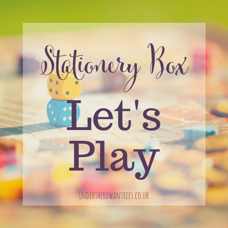 Stationery Box Subscription - Let's Play - Boardgames