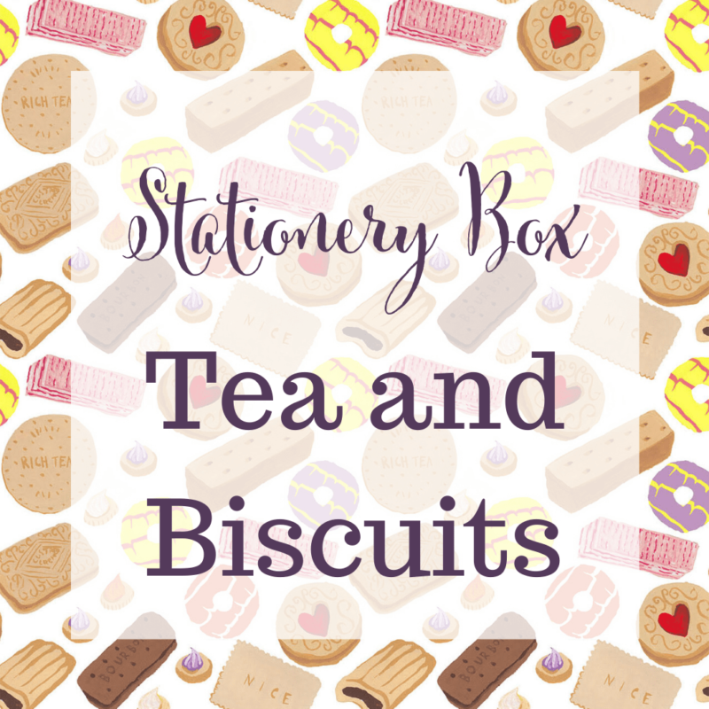 Tea and Biscuits Stationery Box