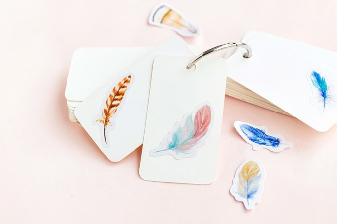 Feather Planner Stickers