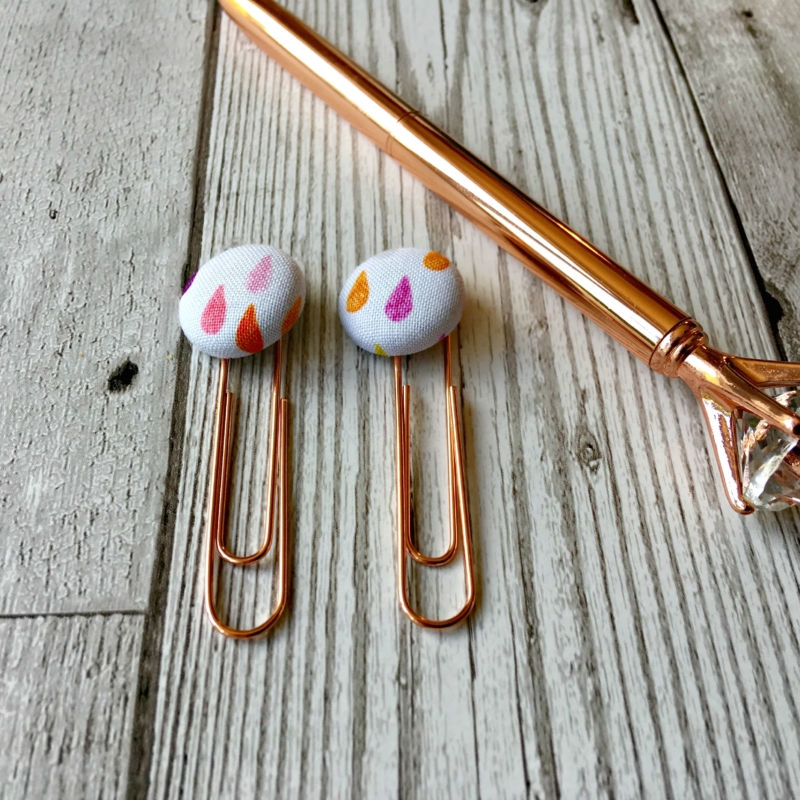 Pastel Raindrop Paperclips