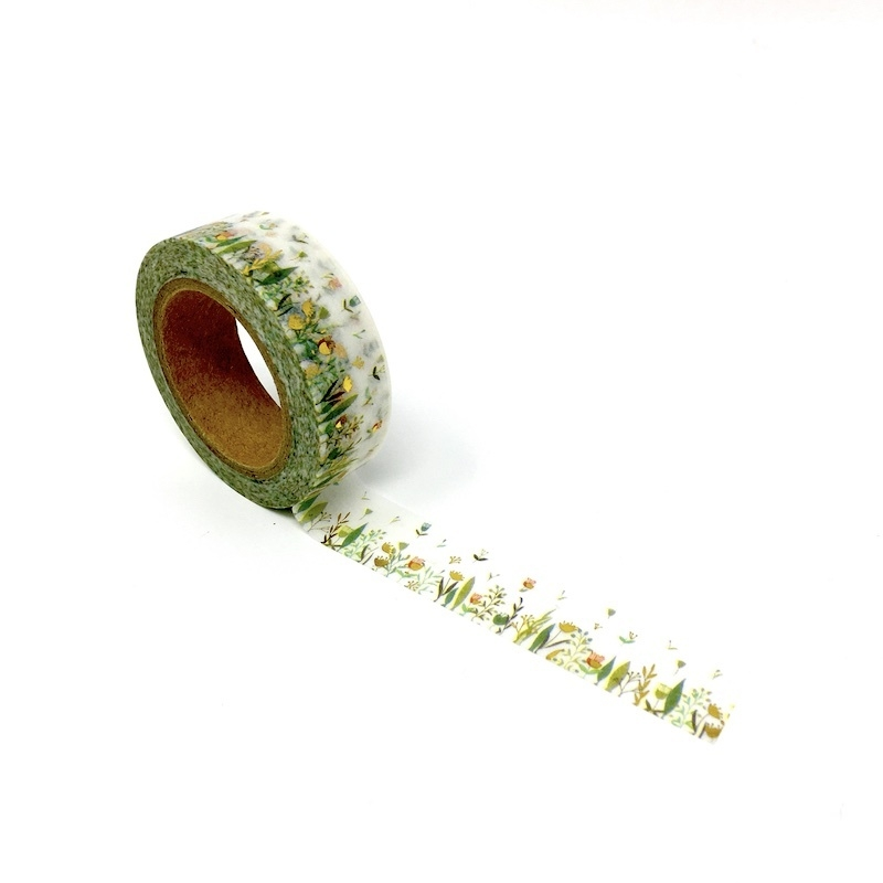 Foiled Grass Washi Tape