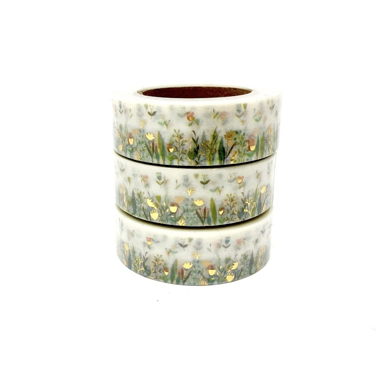 Foiled Grass Washi Tape