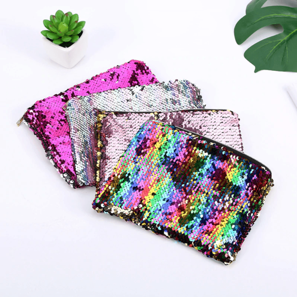 Rainbow Sequin Pencilcase