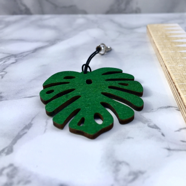 Monstera Leaf Planner Charm