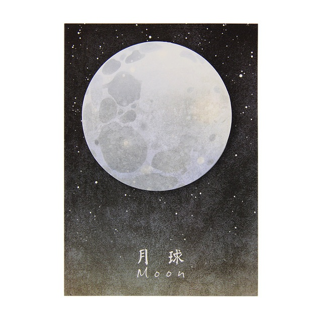 Space Sticky Notes - Moon