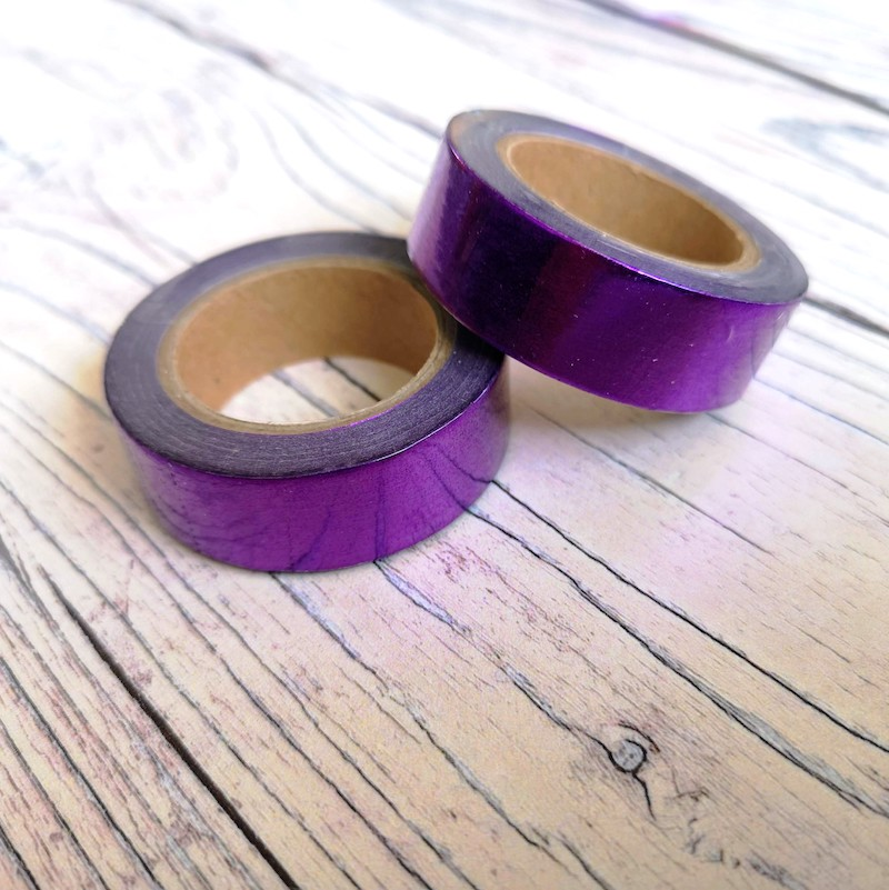 Purple Metallic Washi Tape