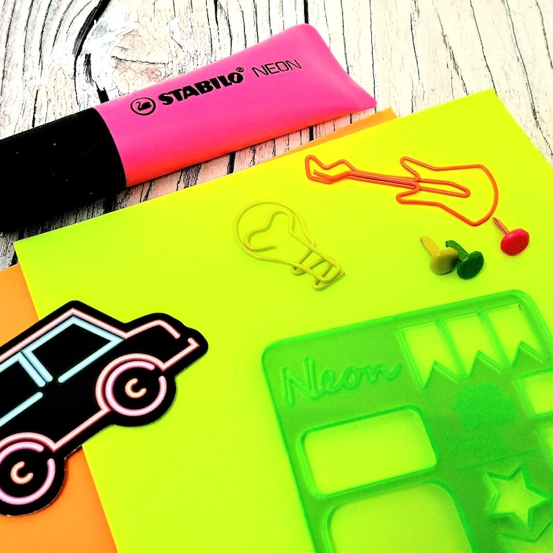 Neon Stationery Box