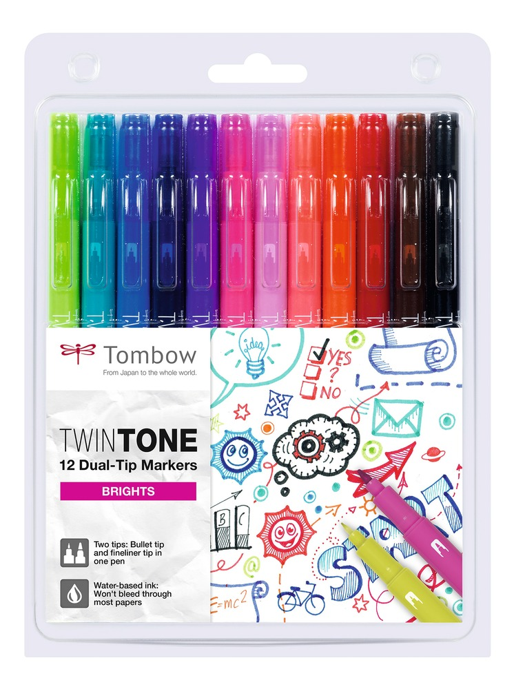 Tombow TwinTone Brights