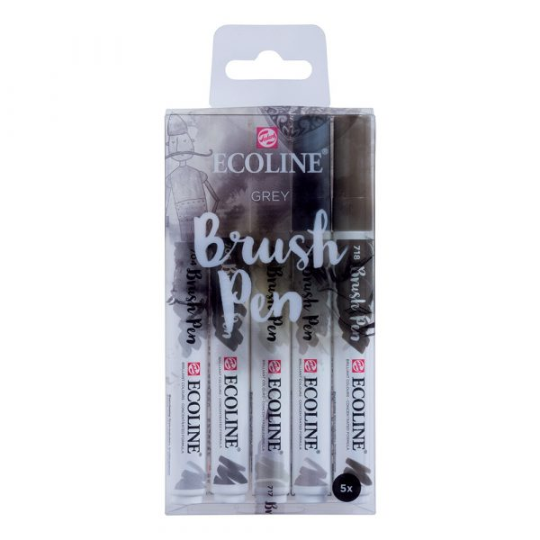 Ecoline Watercolour Brush Pens Grey