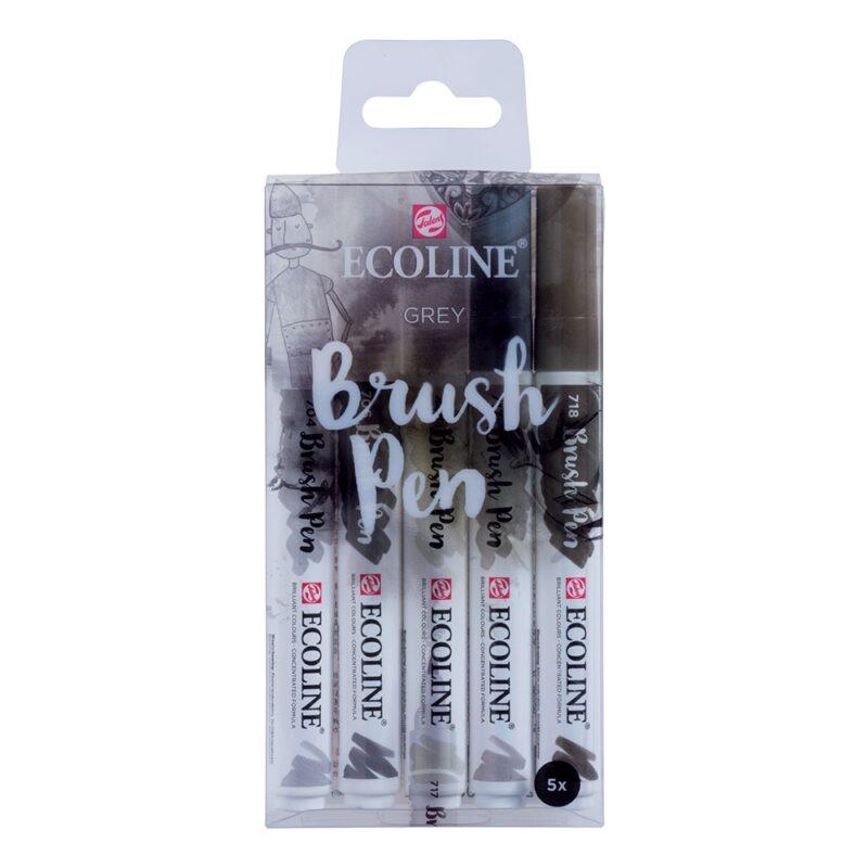 Ecoline Watercolour Brush Pens Grey