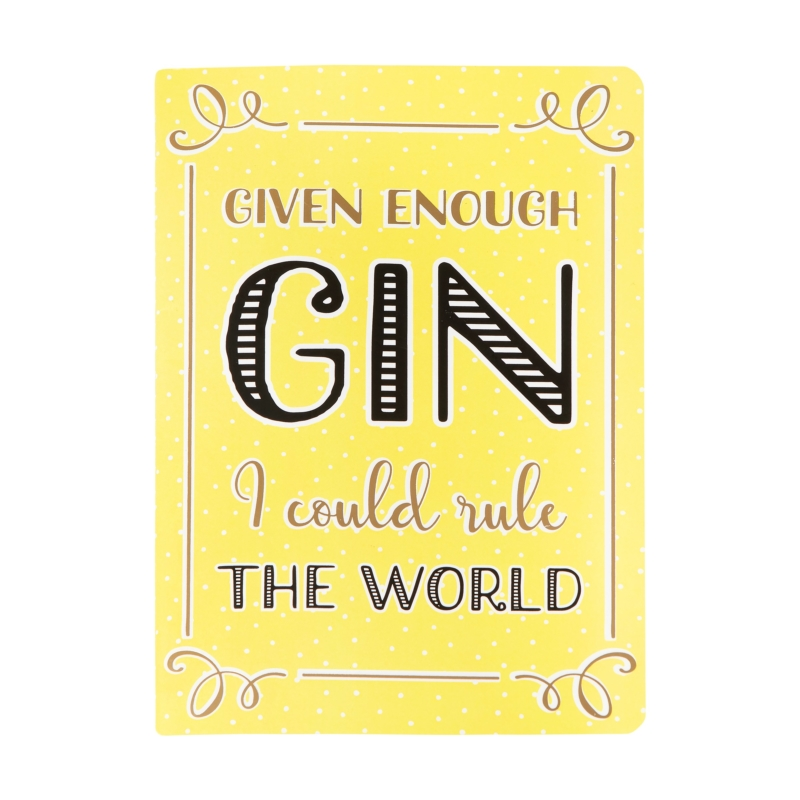 Gin Lover Lined Notebook
