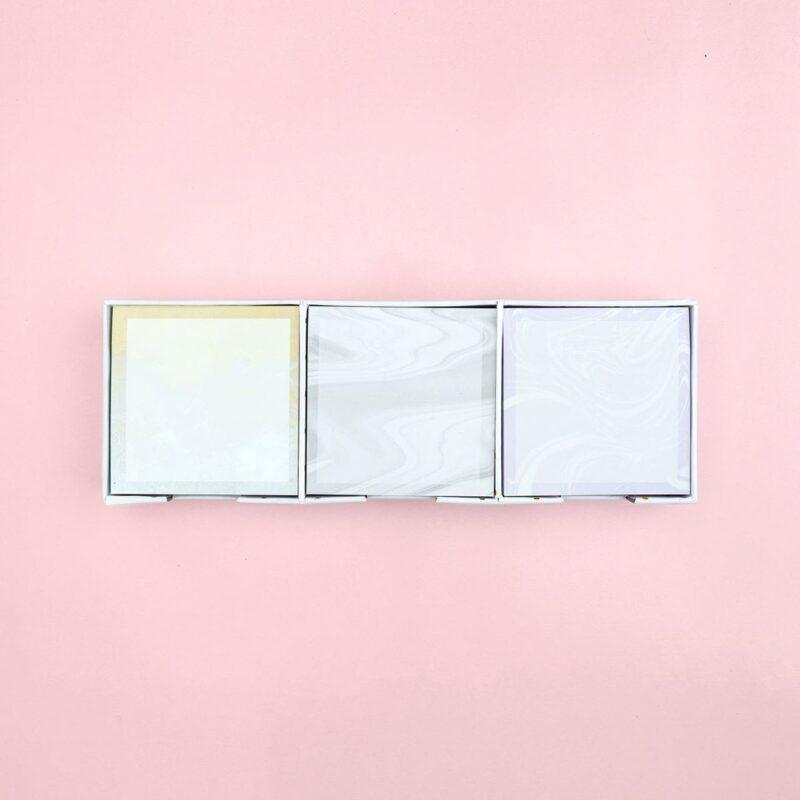 Marble Sticky Notes Set