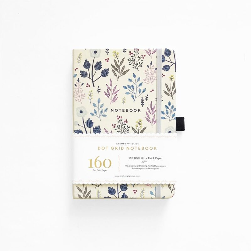 A5 Fall Flowers Dot Grid Notebook Archer and Olive