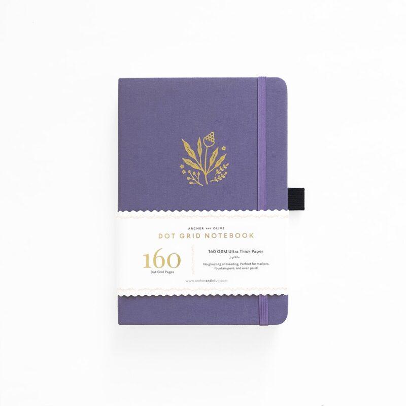 A5 Floral Details Dot Grid Notebook - Archer and Olive