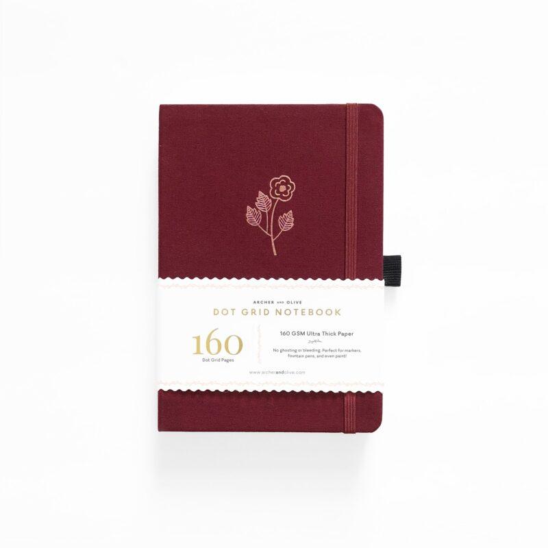A5 Rose Gold Dot Grid Notebook