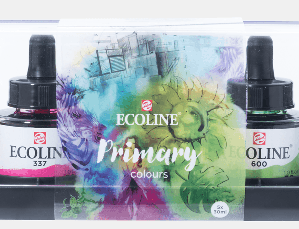 Ecoline Watercolour Inks x 5 Primary