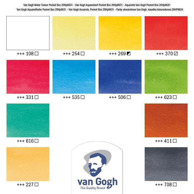Van Gogh Watercolour Pocket Box Colour Card