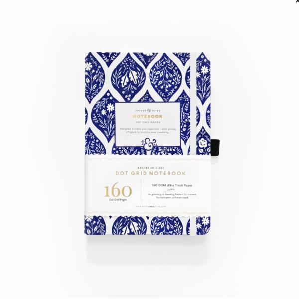 A5 Fleur-de-Bleu Dot Grid Notebook