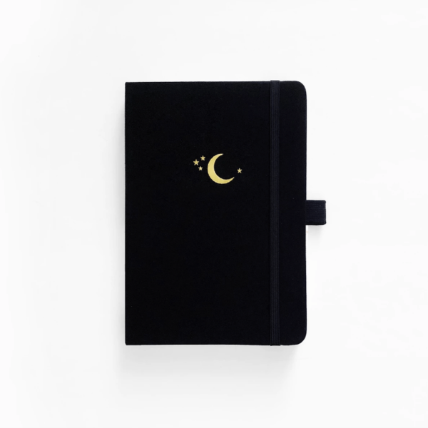 A5 Crescent Moon Dot Grid Notebook