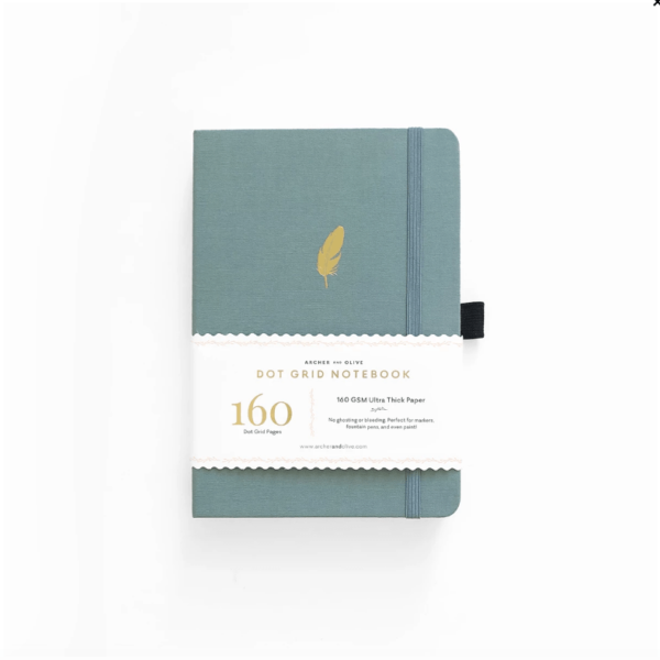 A5 Falling Feather Dot Grid Notebook