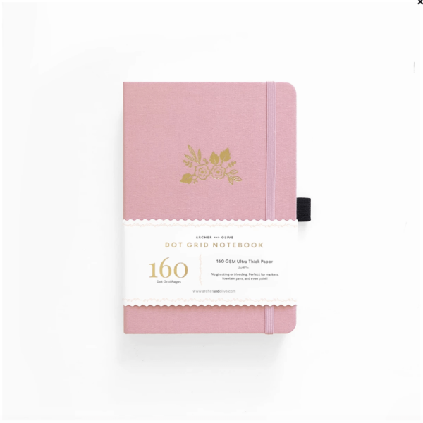 Light Pink A5 Dot Grid Notebook