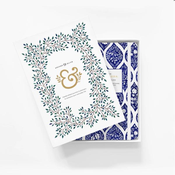 A5 Spiral Planner Fleur-de-Bleu