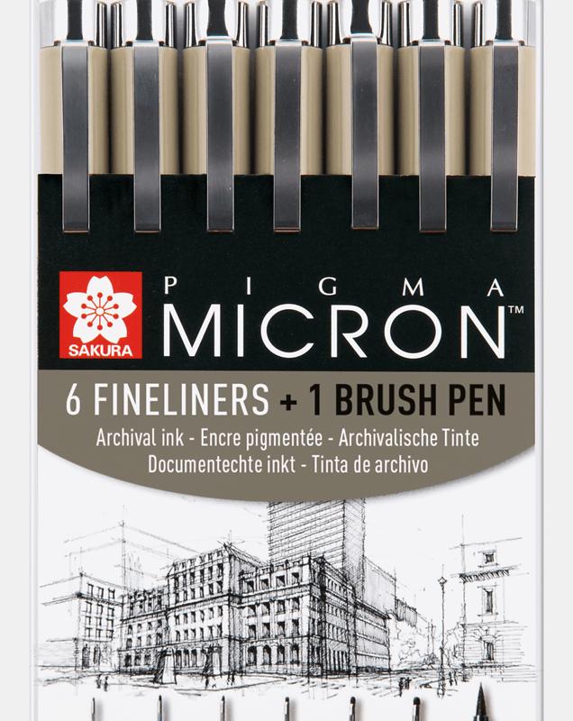 Pigma Micron 6 +1 Brush Pen