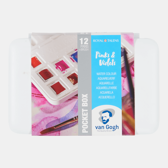 Van Gogh Pinks & Violets Watercolour Pocket Box
