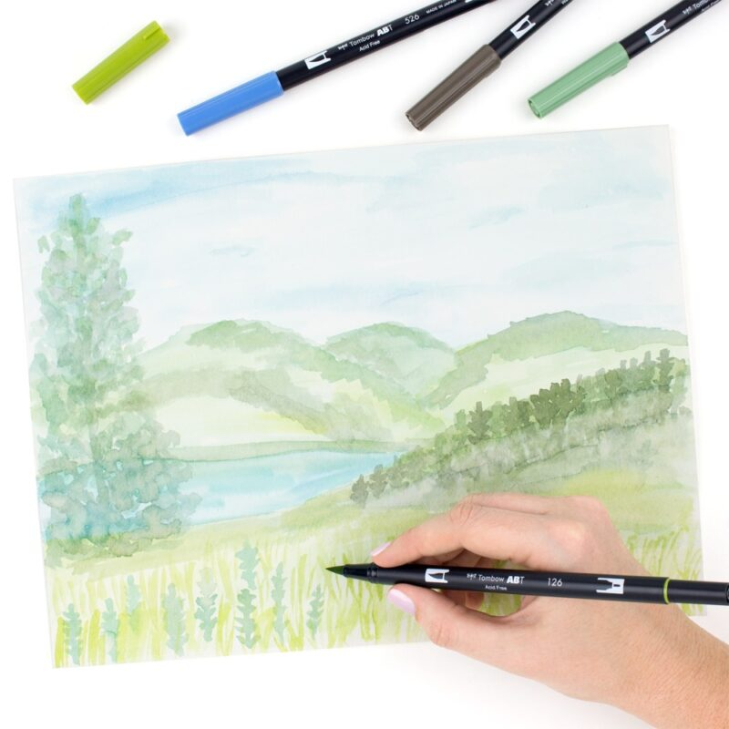 Tombow Watercolouring Set