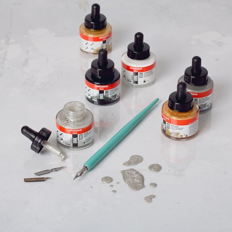 Amsterdam Acrylic Ink Lettering Set