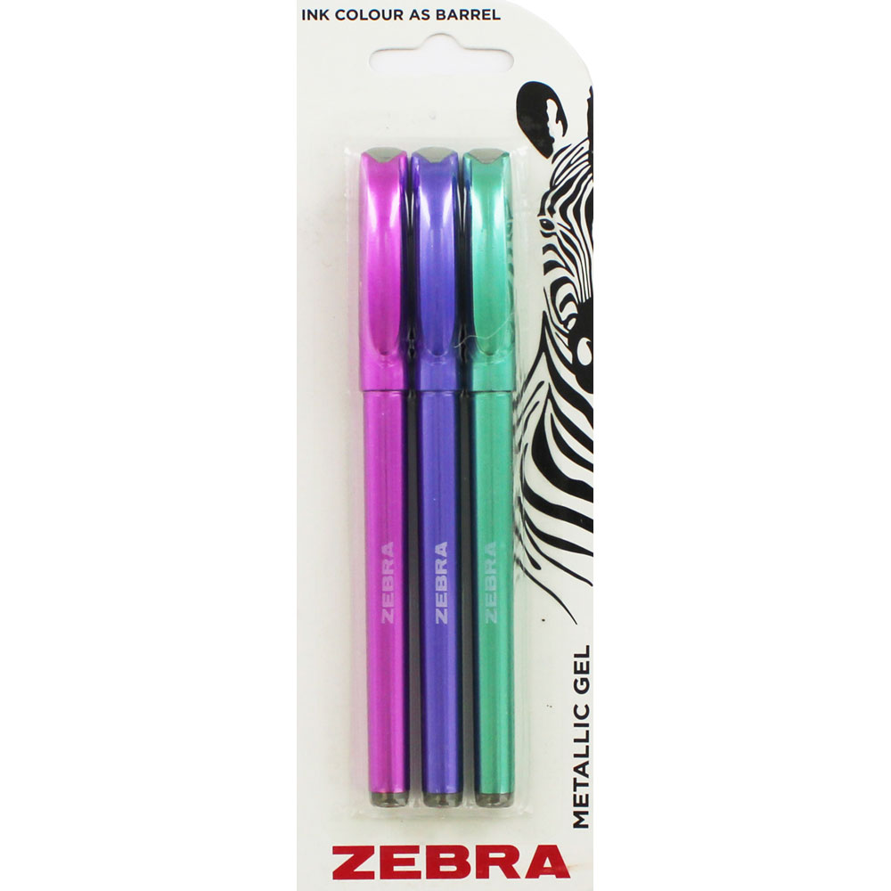 Zebra Metallic Gel Pens