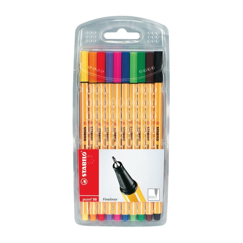Stabilo Point 88 Fineliners - 10 Pack