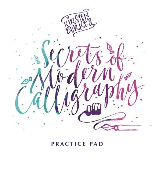 Secrets of Modern Calligraphy Practice Pad