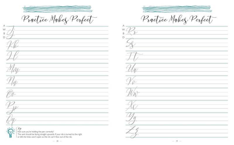 Secrets of Modern Calligraphy Practice Pad