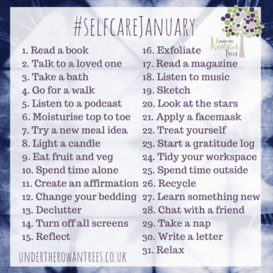 Self Care January Prompts
