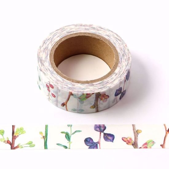 Flower bud washi tape